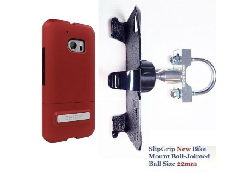 Slipgrip U-bolt Bike Holder For Htc 10 Phone Using Seidio...
