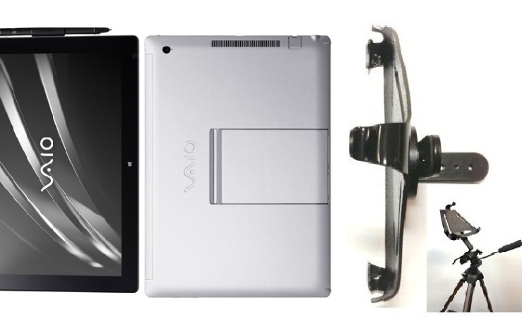 SlipGrip Tripod Mount For Sony Vaio Z Canvas Tablet Naked Using No Case On
